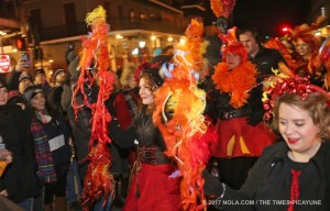 Raining fire on the French Quarter at the Joan of Arc parade!
